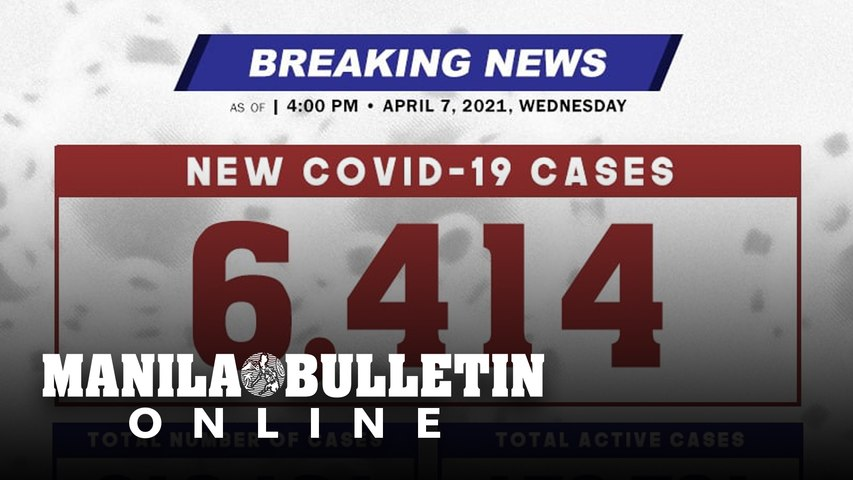 BREAKING: DOH reports 6,414 new cases, bringing the national total to 819,164, as of April 7, 2021.