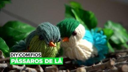 DIY com fios: Pássaros de lã