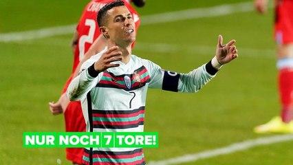 Cristiano Ronaldo steht kurz davor, einen weiteren internationalen Fußballrekord zu brechen