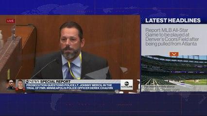 Lt. Johnny Mercil testifies at Derek Chauvin's trial