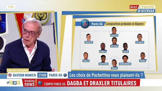 Dagba et Draxler titulaires - Foot - C1 - PSG