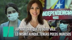 """""""¡Aprovecha que el valor de tu voto no depende de tus ingresos (todavía)!"""", por Marta Flich"""