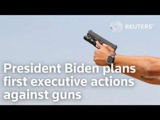 President Biden plans first executive actions against guns