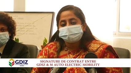 Cérémonie d'accord de partenariat et d'installation au Bénin de M. Auto Electric Mobility