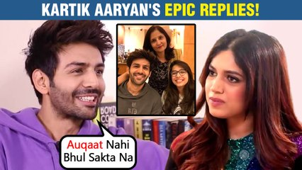 Kartik Aaryan FUNNY REPLIES To Bhumi, Rohit Shetty| Gives Epic Answers