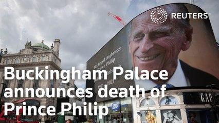 Buckingham Palace announces death of Prince Philip