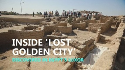Inside 'Lost golden city' discovered in Egypt's Luxor