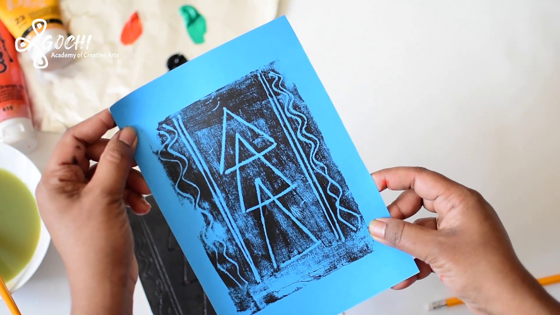 Easy Creative Activity for Kids - Foam Sheet Printing