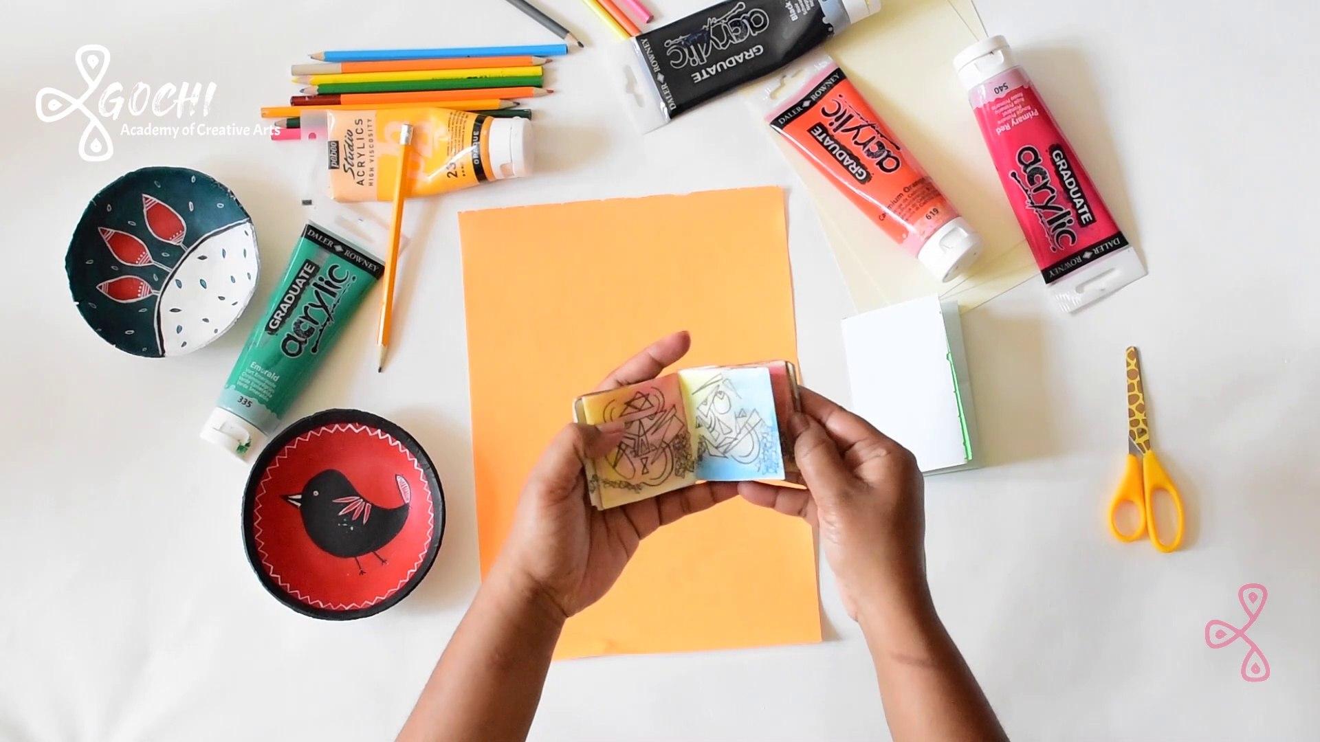 Easy Creative Activity for Kids - Mini Sketchbook