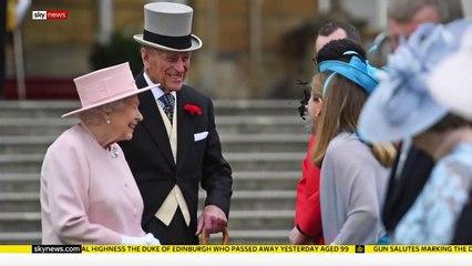 Well-wishers pay tribute to Prince Philip, the Duke of Edinburgh