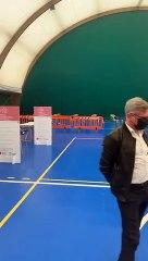 Andria: don Michelangelo benedice l'hub vaccinale di San Valentino - video