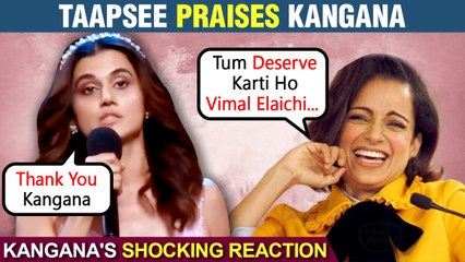 Kangana Congratulates Taapsee For Winning Filmfare 2021 Best Actress Award For Thappad