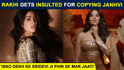Rakhi Sawant RECREATES Janhvi Kapoor's Nadiyon Par, Gets Insulted By Fans