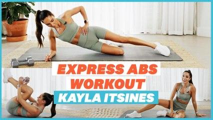 Kayla Itsines Express Abs Workout | Home Work
