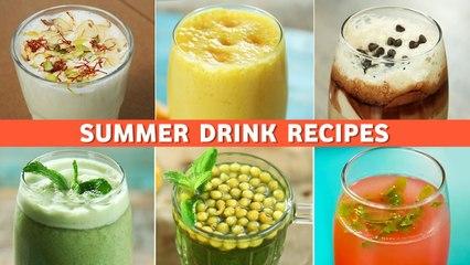 Summer Drink Recipes   गर्मी भगाने के लिए ६ ड्रिंक्स   Lassi   Chaas   Jal Jeera   Cold Coffee