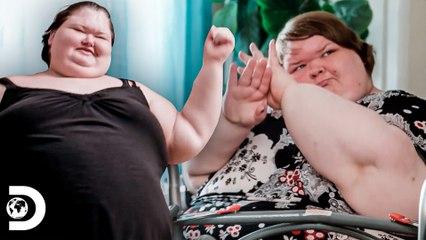 Tammy y Amy bailan con videojuego   Kilos Mortales: Las Hermanas Slaton   Discovery Latinoamérica