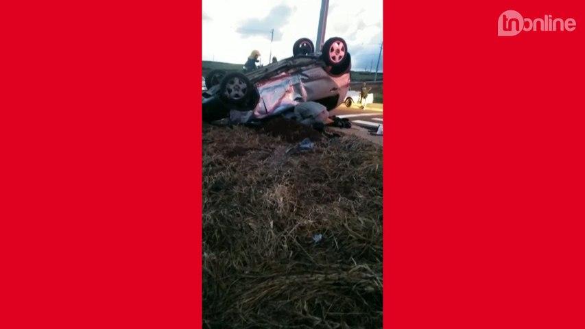 Acidente grave deixa duas pessoas feridas em Arapongas