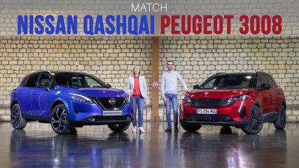 Match Nissan Qashqai - Peugeot 3008