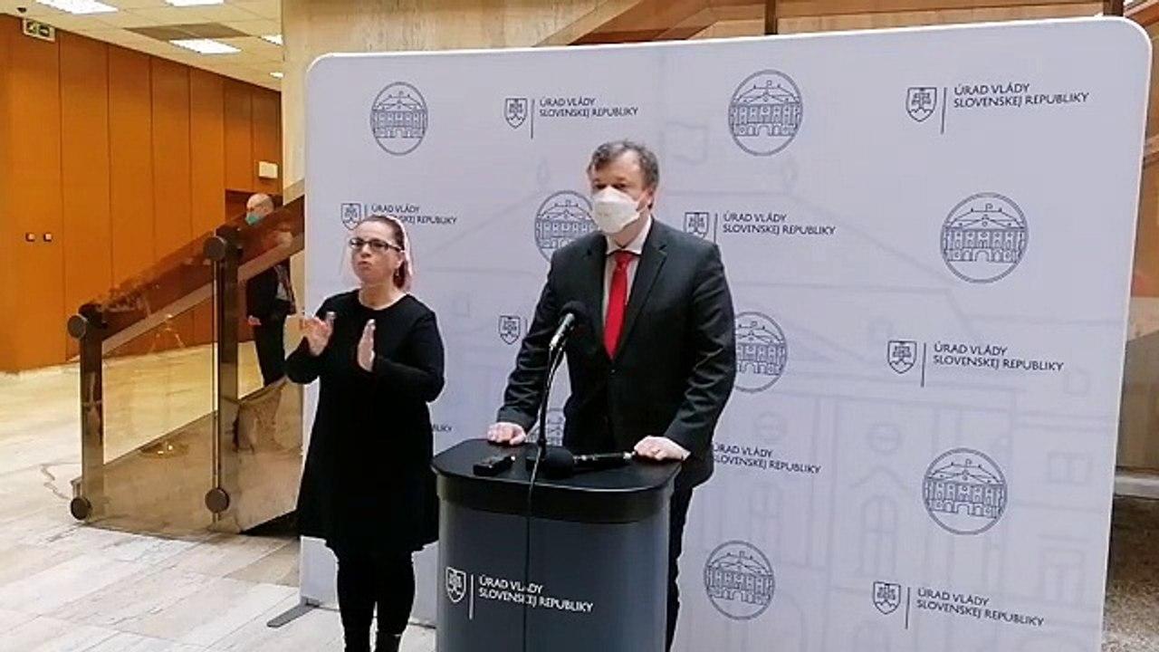 ZÁZNAM: Brífing ministra práce M. Krajniaka pred rokovaním vlády