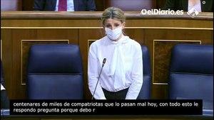 """Yolanda Díaz corrige a García Egea y le dice que los """"seis millones"""" de parados fueron con Mariano Rajoy"""