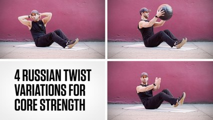 4 Russian Twist Variations for Core Strength