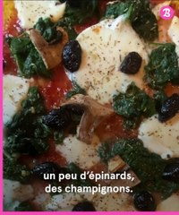 Food : pizza polenta
