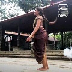 Dancer Rukmini Vijayakumar's Daily Yoga Routine In Saree Goes Viral