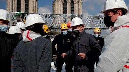 Emmanuel Macron à Notre-Dame: «un travail immense a été accompli»