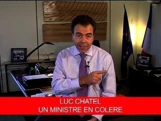 Luc Chatel, un ministre en colère.