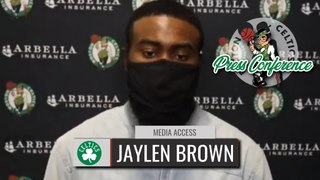 Jaylen Brown Reacts to Setting NBA Record | Celtics vs Lakers