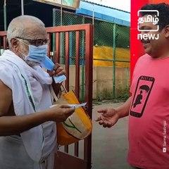 Elderly Purohit On A Mission To Mask Neighbourhood