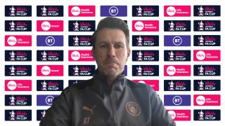 Gareth Taylor previews Man City Ladies v Villa in Vitality FA Cup