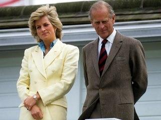 Felipe de Edimburgo y Diana de Gales.