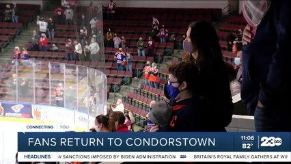 Fans return to Condors Hockey games