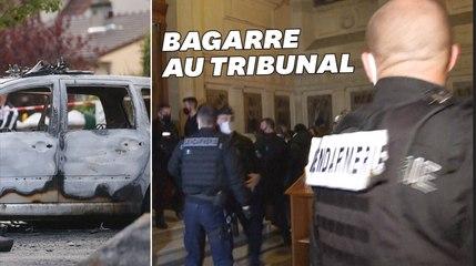 Policiers brûlés à Viry-Châtillon: 5 accusés condamnés, pugilat au tribunal