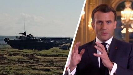 Tensions à la frontière ukrainienne : Macron prêt à sanctionner la Russie en cas de «comportement inacceptable»