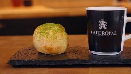 Comment bien préparer et accompagner nos petits choux au thé matcha avec un café royal...