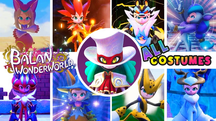 Balan Wonderworld All Costumes & Powers (PS4, PS5)