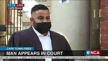 Man appears in court over Cape Town fires
