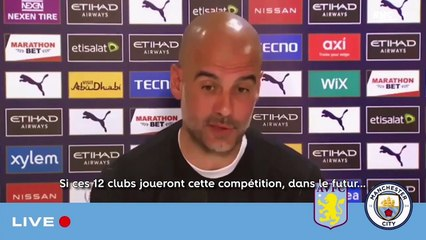 """Manchester City : """"Ce n'est pas du sport"""", la litanie de Guardiola contre la Super League"""