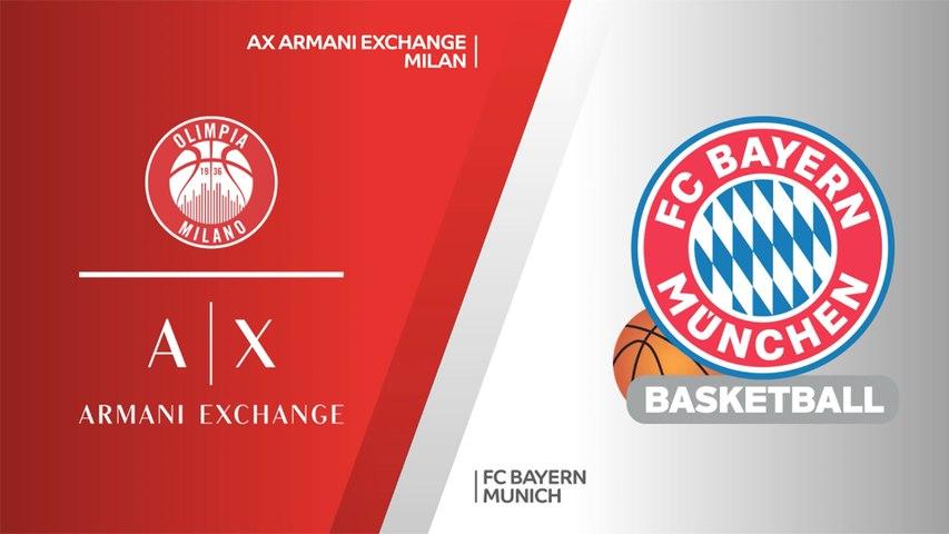 AX Armani Exchange Milan - FC Bayern Munich Highlights   Turkish Airlines EuroLeague, PO Game 1