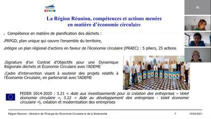 Appel à projets Economie Circulaire /  Replay du webinaire ADEME – Région Réunion du 19 avril 2021