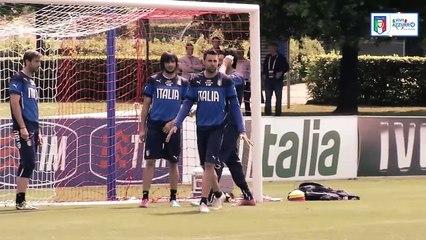 L'allenamento di Buffon e degli altri portieri azzurri!