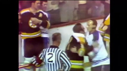Forbes Kennedy Gerry Cheevers John Mckenzie 1969 Nhl Playoffs Toronto Maple Leafs Boston Bruins