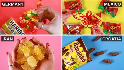 Take a look at candy around the world, from coconut drops in Jamaica to fruit juice toffee in Ukraine