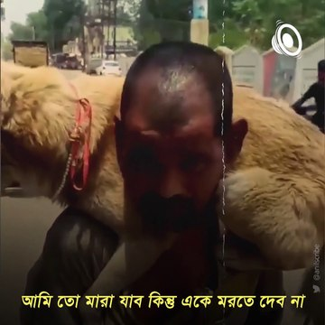 Man Gives His Only Mask To The Dog, Video Goes Viral