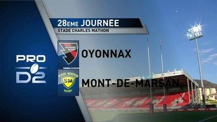 OYONNAX / MONT DE MARSAN : Résumé du match