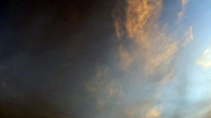 Timelaps du ciel nuageux