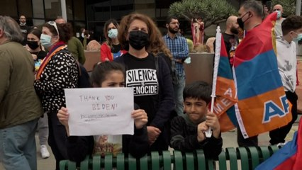 «  C'est une forme de soulagement »: les Arméniens fêtent la reconnaissance du génocide par Joe Biden