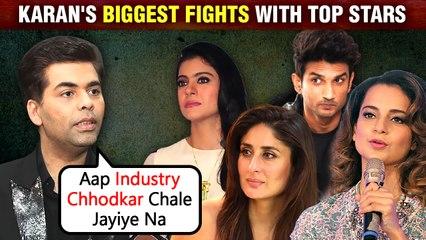 Karan Johar's Biggest Fights With Kareena, Kajol Ajay Devgn, Kangana, Sushant Singh Rajput